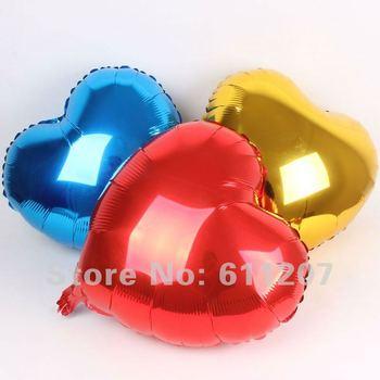 50 pcs/ lot  Free Shipping  wholesales 18inch Aluminum Foil Balloon  ,Heart Shape balloon , Wedding /Party decoration