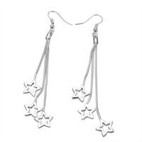 Free Shipping!!! Quality Women's Star Style 925 Silver Earring, Fashion 925 Silver Jewelry, Factory Price! (E161)