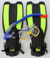 swim flippers swimming product fins swim fins(swim goggles and Diving straw both free) #354
