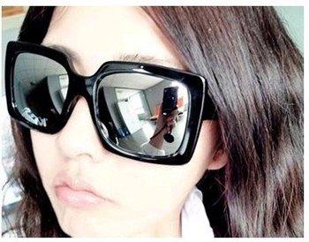 12PCS reflective panel sun glasses designer sunglasses Fashion joker square leopard black white wine red reflect light glass