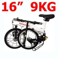 Free shipping by EMS,Lithium Battery Magnesium alloy Light and handy comfortable Folding electric bike,only 9kg E-BIKE