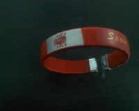 spain national football team red  fashion wristband  /  woven wristband  5 pcs