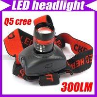 CREE LED Zoom Adjustable Focus Waterproof Headlamp Headlight Headtorch 300LM6 Mode #1489