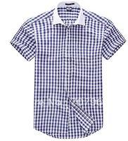 Male short sleeve shirt business leisure white-collar vertical stripes men's shirt