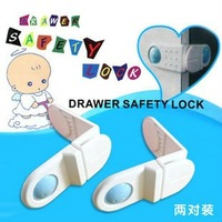 Free shipping Fridge Door or Drawers Safety Lock For Children protect your baby from hurting his fingers