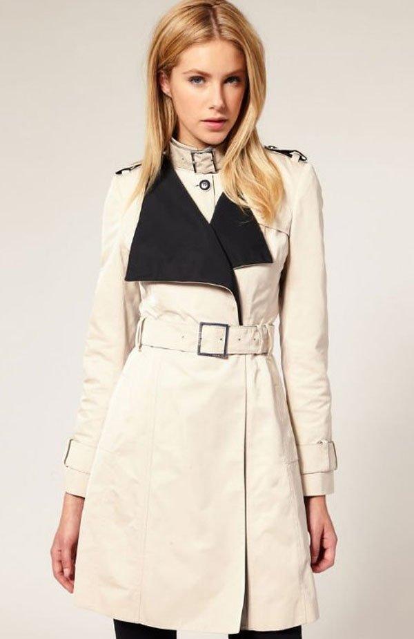 Hot Sale Ladies Long Coat Windbreaker Fashion Designer