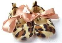 Baby shoes first walker shoes girls boys kids Children's leopard shoes 0612 ljy