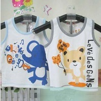Free shipping! Wholesale Baby Sleeveless vest Children summer top baby clothes fanny carton Child tank tops for 1-3 years old