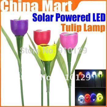 Outdoor Garden Light Solar Powered LED Tulip Home Landscape Flower Color Lamp