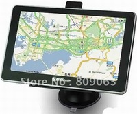 Free Shipping 7 Inch LCD Windows CE 6.0 Core Bluetooth AV GPS Navigator FM Transmitter, 4GB Memory Card