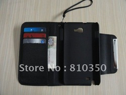 For Samsung Galaxy Note i9220 N7000 PU Leather Wallet Flip Case Cover E121 Free shipping 300pcs/lot wholesale/retail(China (Mainland))