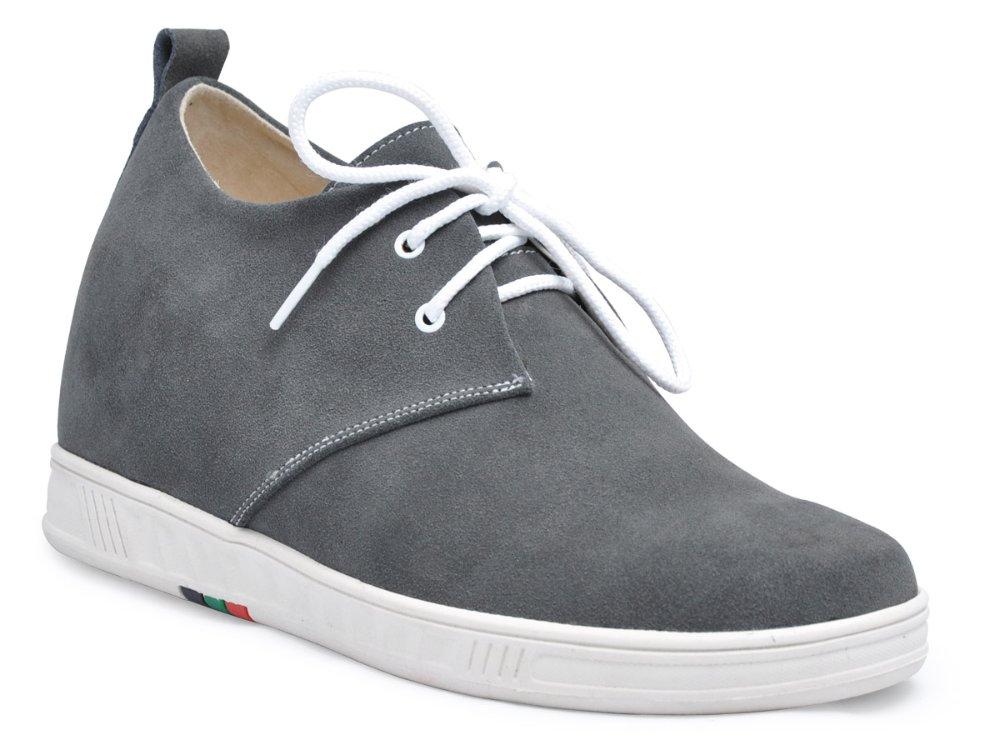 9091A-Gray moda lazer sapatos de couro camurça crescer mais alto 7 CM homens elevador sapatos manter os pés saudáveis e seca-7 cores para você(China (Mainland))