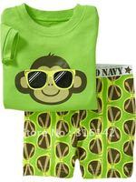6sets/lot baby pajamas baby sleepwear kids' tshirt+short pant=2pcs/set kids' clothing set baby sleep wear summer suit  S-03