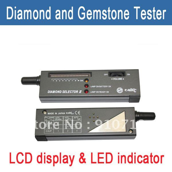 Free Shipping Electronic Diamond Gemstone Gems Tester Selector II detector LED tool(China (Mainland))