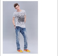 Free shipping--Summer 2012 prints of rest cultivating Cotton Mens Short Sleeve T-Shirt
