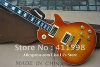 wholesale custom shop sunburst electric guitar ebony fingerboard music guitar EMS free shipping
