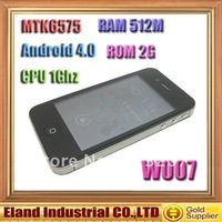 New arrive Star W007 MTK6575 1Ghz 512MB RAM + 2GB ROM Android 4.0 GPS WIFI 3G android phone