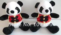 Free shipping 3pcs/lot plush stuffed panda toys for baby plush panda
