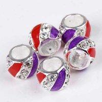 Wholesale 20p Enamel Crystal Charm European Beads