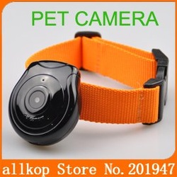 New Dog Cat Pet's Eye View Digital Clip-On Collar Video Camera Cam Pet Supply(China (Mainland))