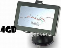 Free Shipping 5 Inch Windows CE 6.0 GPS Navigator with AV, Bluetooth, FM Transmitter, Built-in 4GB Memory