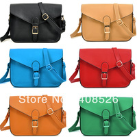 Сумка через плечо 2012 New Fashion Girls' Leisure Big PU Leather Charm Bag Handbag Red, Camel 5603
