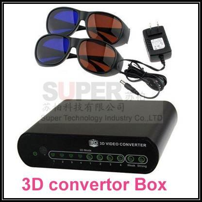 2D to 3D Converter Box 3D movie Converter TV,watch 3D film on a 2D TV set Free Shipping(China (Mainland))