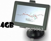 Free Shipping 5 Inch LCD Windows CE 6.0 Core AV Bluetooth GPS Navigator w/FM Transmitter , 4GB Memory Card