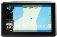 Free Shipping Hand Held 5 Inch Touch Screen Windows CE 6.0 GPS Navigator with Built in MP3 MP4 Player, 4GB SD Card