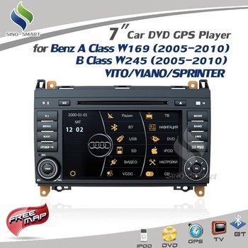 Virtual 8 DISC 3D UI 7'' Car DVD GPS Bluetooth TV MP5 CANBUS for Mercedes Benz A Class W169  B Class W245 VITO/VIANO/SPRINTER