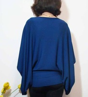 Free shipping ~ Classic fifth sleeve sweater pullover blue