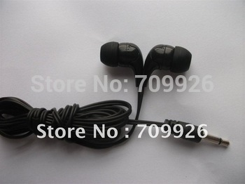 Earphones manufacture,In-ear Mono earbud/headphone /1.8m cable length disposable earbuds headphones 50pcs/bag Min order 5000pcs