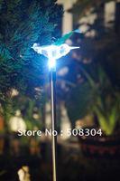 solar light,solar lamp ,plug-in Fiber Hummingbird solar light,no electricity charge,2pcs/lot+Free shipping