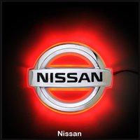 Car LED Decal Logo Light Badge Emblem Sticker Lamp Red For Nissan Teana Free Shipping