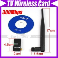 EDUP 300Mbps WiFi Wireless Card Network Card Adapter,Supports HD LCD TV/Player/HDTV #1482
