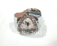 Wholesale 50pcs/lot Hot sale fashional Finger Ring Watch,diamond adjustable ring,Jewelry pocket swatch free shipping