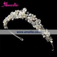 Free Shipping!Handmade wedding bride crown headdress headdress hair accessories flowers