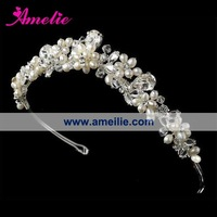 Free Shipping!Handmade wedding bride crown headdress headdress hair accessories flowers