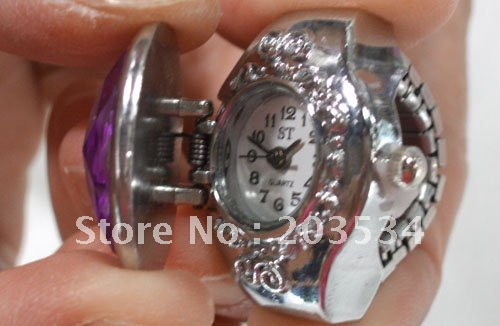 Wholesale 10pcs/lot Hot sale fashional Finger Ring Watch,adjustable ring gifts,pocket Jewelry quartz swatch free shipping(China (Mainland))