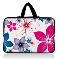 "14 ""14.1"" 14.4 ""Colorful Flower Laptop Neoprene macio Netbook Bag Case + Esconder Handle Fit 14.5"" HP ENVY 14, Dell Acer(China (Mainland))"