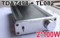100W x2 W1002A digital Amplifier Tripath TDA7498 + TL082 stereo HiFi amp incl poWER SUPPLY