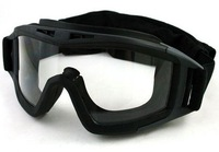 UV-X500 Tactical Goggle w/ Exchangeable Lens (Black)  free ship