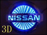 Hot Sale 3D Car logo Light For Nissan Car Badge Light Auto Led Light Auto Emblem Led Lamp Car Logo Led Light