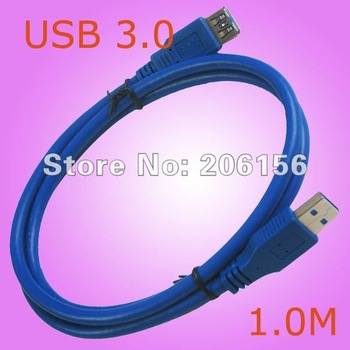 Premium Quality Blue 6Ft 6Feet USB 3.0 A M/F Extension Cable