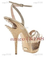 New Free shipping with diamond Women's high heel pumps shoes