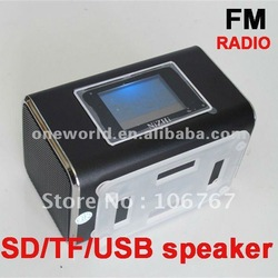 Big Discount Portable Stereo Digital Mini Speaker For MP3 Player USB Disk Micro SD TF Card FM Radio(China (Mainland))