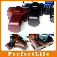 Leather Camera case bag for Olympus OM-D OMD EM5 E-M5 A07AZZ005