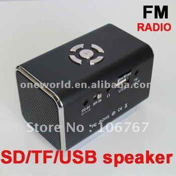 Multimedia Portable Mini Speaker/Computer Speaker With USB/SD Card Read Function