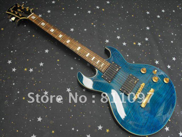 Il nuovo blu tigre tatuaggio s-g chitarra elettrica