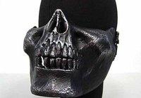 Seal Skull Skeleton Half Face Protector Mask Silver BK free ship